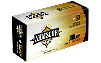 ARMSCOR 380ACP 95GR FMJ 50/1000 - for sale