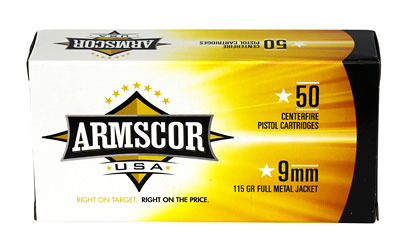 ARMSCOR 9MM 115GR FMJ 50/1000 - for sale
