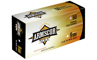 ARMSCOR 9MM 124GR FMJ 50/1000 - for sale
