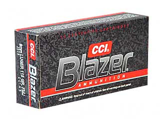BLAZER 9MM 115GR FMJ 50/1000 - for sale