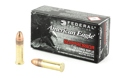FED AE SUPPRESSOR 22LR 45GR FMJ 50/ - for sale
