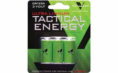VIRIDIAN CR123A LITH BATTERY 3PK - for sale